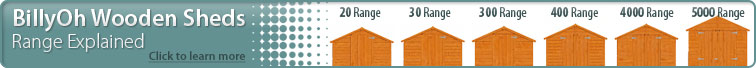 BillyOh Wooden Sheds - Range Explained