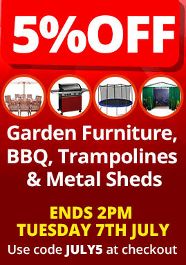 5% Off on Barbecues and Garden Furniture