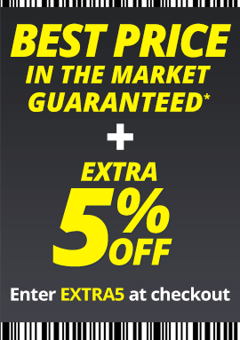 Best Price in the market guaranteed + extra 5% off