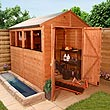 BillyOh 8 x 6 Greenkeeper Premium Tongue & Groove Double Door Apex Garden Shed 5000 Range