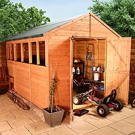 Garden Wooden Shed BillyOh Greenkeeper Apex 8' x 6'