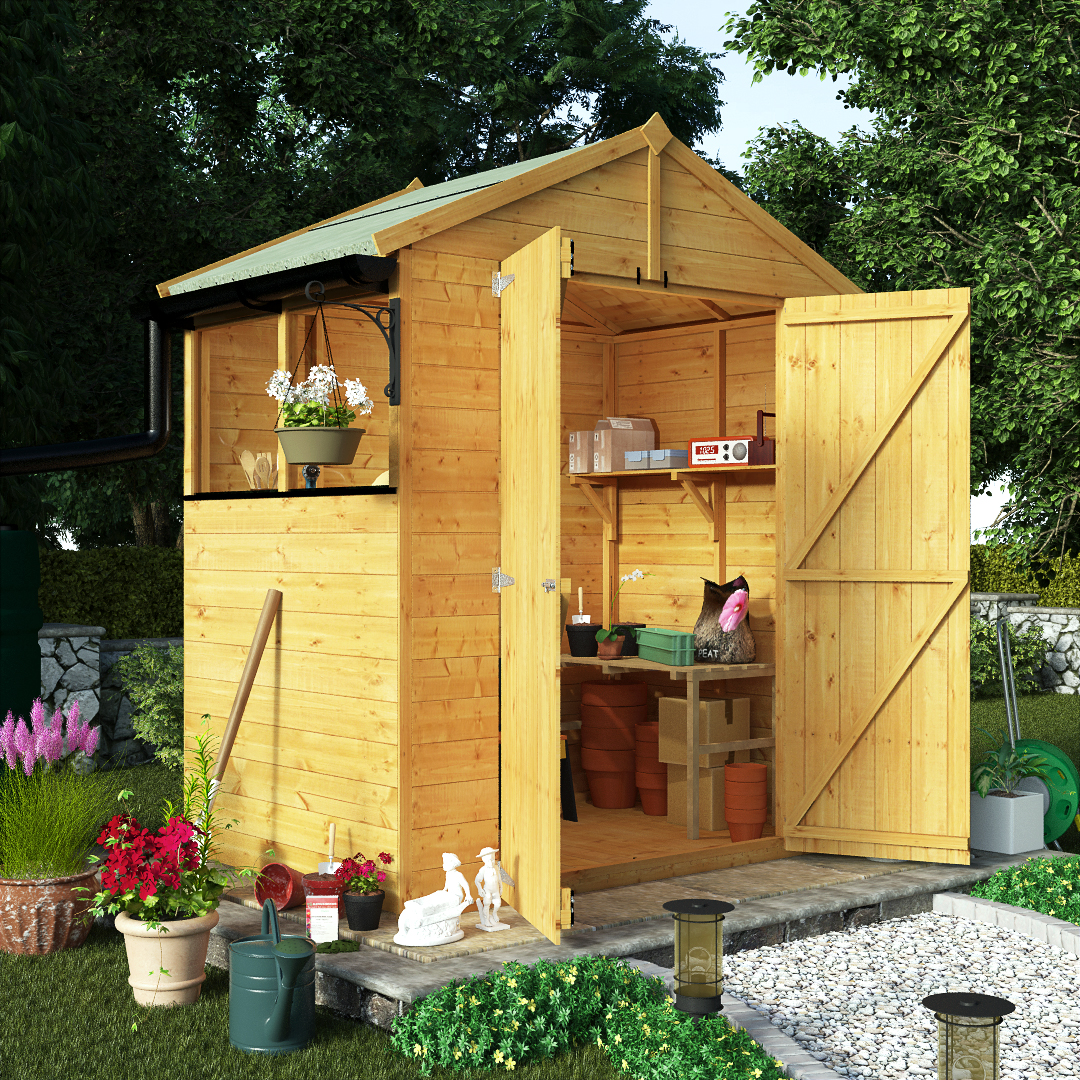 BillyOh 4 x 6 Greenkeeper Premium Tongue & Groove Double Door Apex Garden Shed 5000 Range