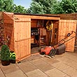 4 x 7 - BillyOh Hyper Store Tongue and Groove Pent Garden Storage Unit Inc Floor