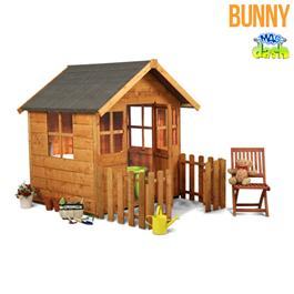 Mad Dash Bunny Wooden Children's Playhouse 4'x4'