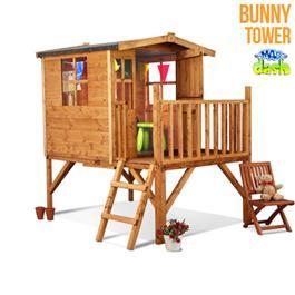 Wooden Playhouse Mad Dash Bunny Tower 6'x4'