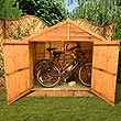 BillyOh 3 x 6 Wooden Overlap Bike Store
