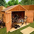 BillyOh 4 x 7 Bike Storage - Overlap Wooden Bike Shed