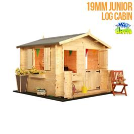 Mad Dash wooden Playhouses 6'x6' Junior 19mm Log Cabin Children's Playhouse