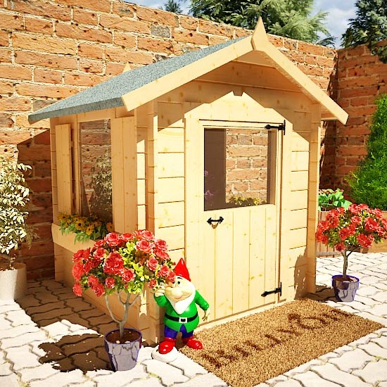 Mad Dash Child S Log Cabin Wooden Playhouse Log Cabin