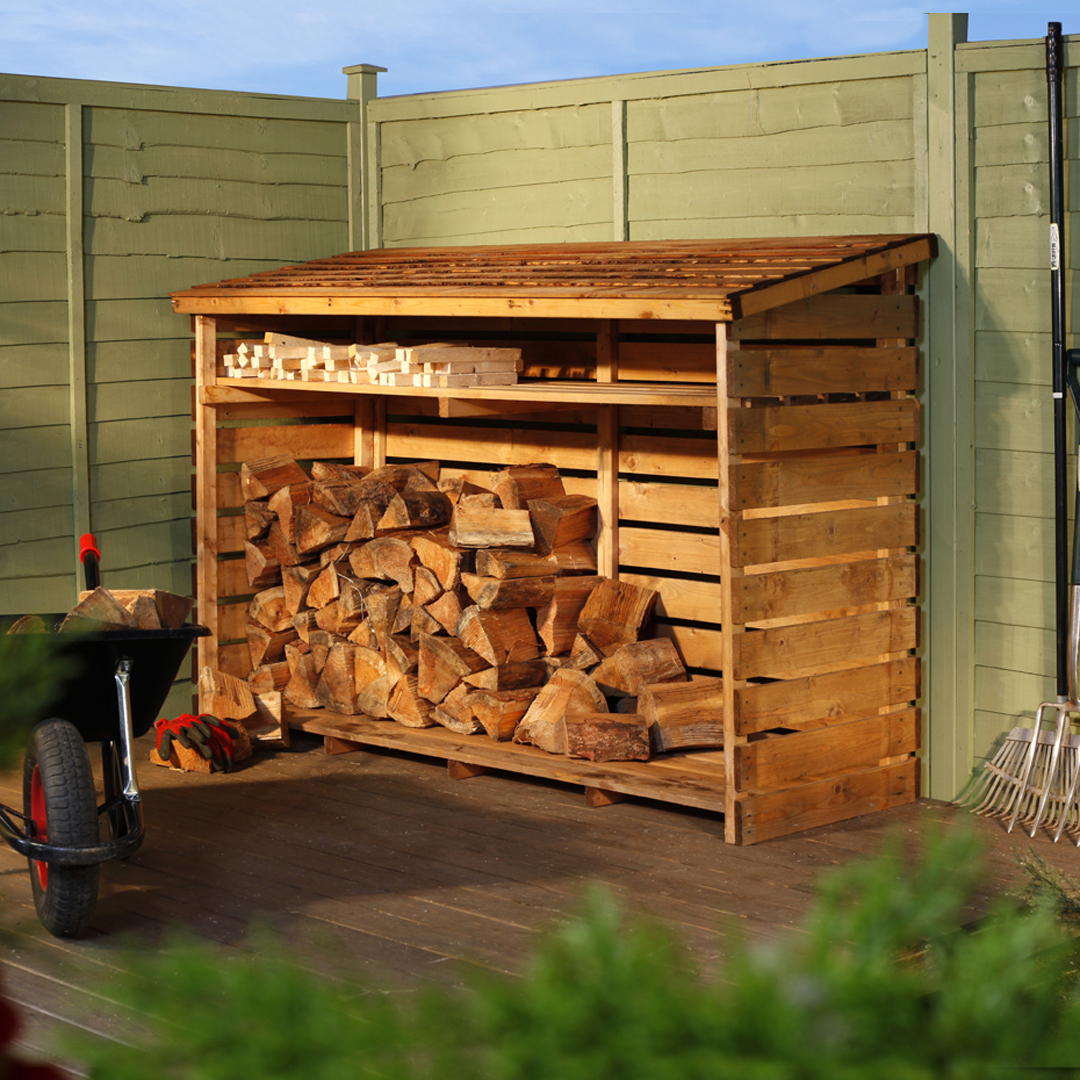 BillyOh 6 x 2 Large Log Store with Kindling Shelf