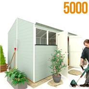 BillyOh 5000 Workman's Hut with Front Windows Tongue and Groove Apex Garden Shed