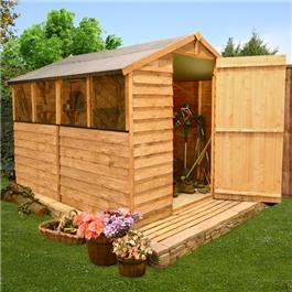 BillyOh Classic 30 Popular Value Overlap Apex Garden Shed - 8'x6'