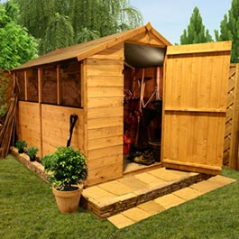 BillyOh Classic 300 Popular 4'x6' Apex Garden Shed