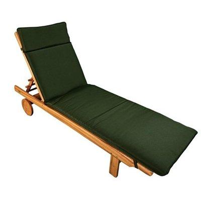 Sun Lounger and Green Cushion