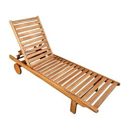 Sun Lounger and Green Cushion