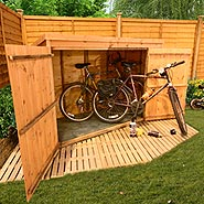 BillyOh 300 Pent Tongue and Groove Bike Store Mini Shed