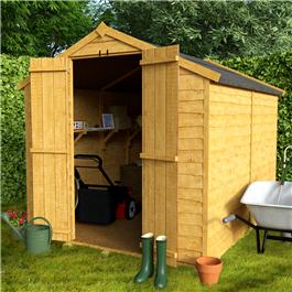 BillyOh 20M Windowless Rustic Economy Overlap Apex Shed