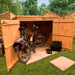 BillyOh 3x6 Overlap Pent Bike Shed - Store