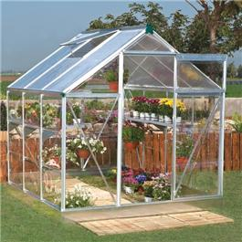 6 x 4 3000S Hobby Silver Greenhouse Metal Greenhouse