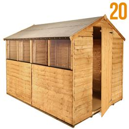 8'x6' Garden Shed - BillyOh Classic 20 Popular Rustic Economy Overlap Apex Garden Shed