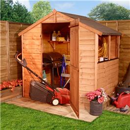 20S BillyOh Economy Overlap Wooden Garden Shed 4x6