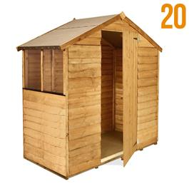 BillyOh Garden Sheds 3'x6' 20s Rustic Economy Overlap Shed