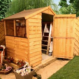 4 x 6 Economy Overlap Apex Shed Wooden Shed