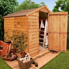 BillyOh 30 Windowless Classic Value Overlap Apex Shed - B Grade - 8'x6'