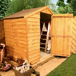 4 x 6 Windowless Overlap Apex Wooden Shed