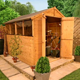 8' x 6' BillyOh Shed 4000M Lincoln Tongue and Groove Shed