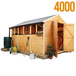 BillyOh 4000L Lincoln Tongue & Groove Double Door Apex Garden Shed