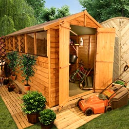 BillyOh 400L Lincoln Overlap Double Door Apex Garden Shed