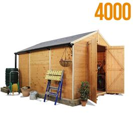 BillyOh 4000L Windowless Lincoln Tongue & Groove Double Door Apex Garden Shed