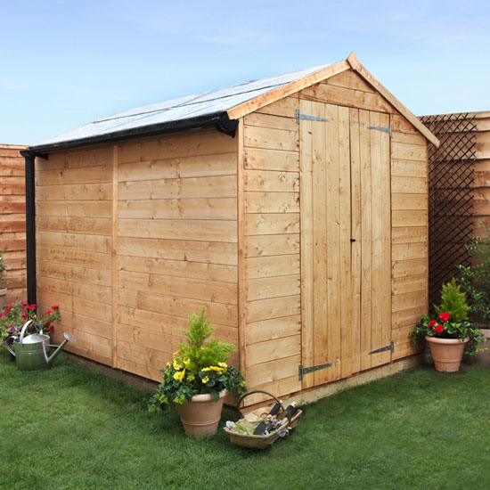 8 x 6 - BillyOh 4000 Windowless Lincoln Tongue & Groove Double Door Apex Garden Shed