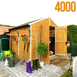 BillyOh 4000M Windowless Lincoln Tongue & Groove Double Door Apex Garden Shed