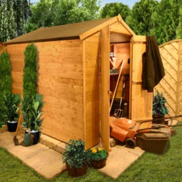 4 x 8 Windowless T and G Apex Shed