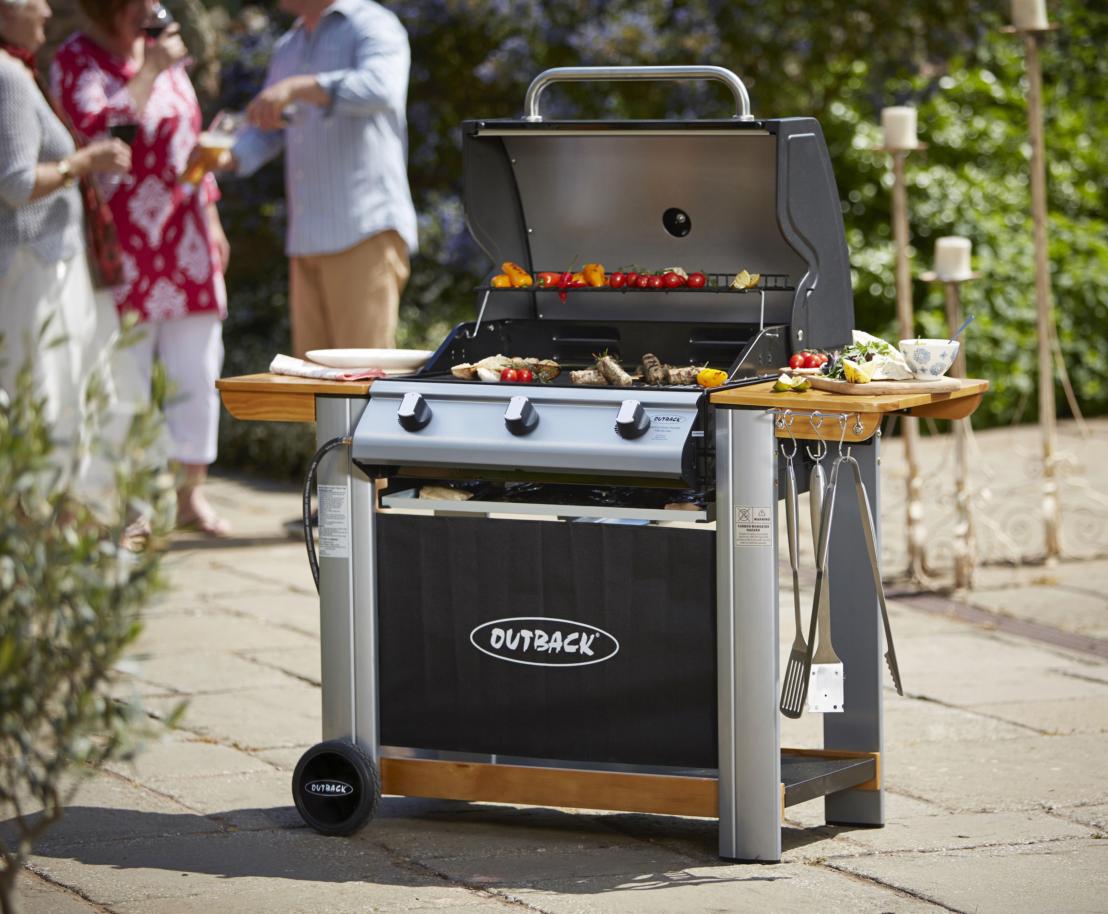 Outback Spectrum 3 Burner Hooded BBQ Barbecue