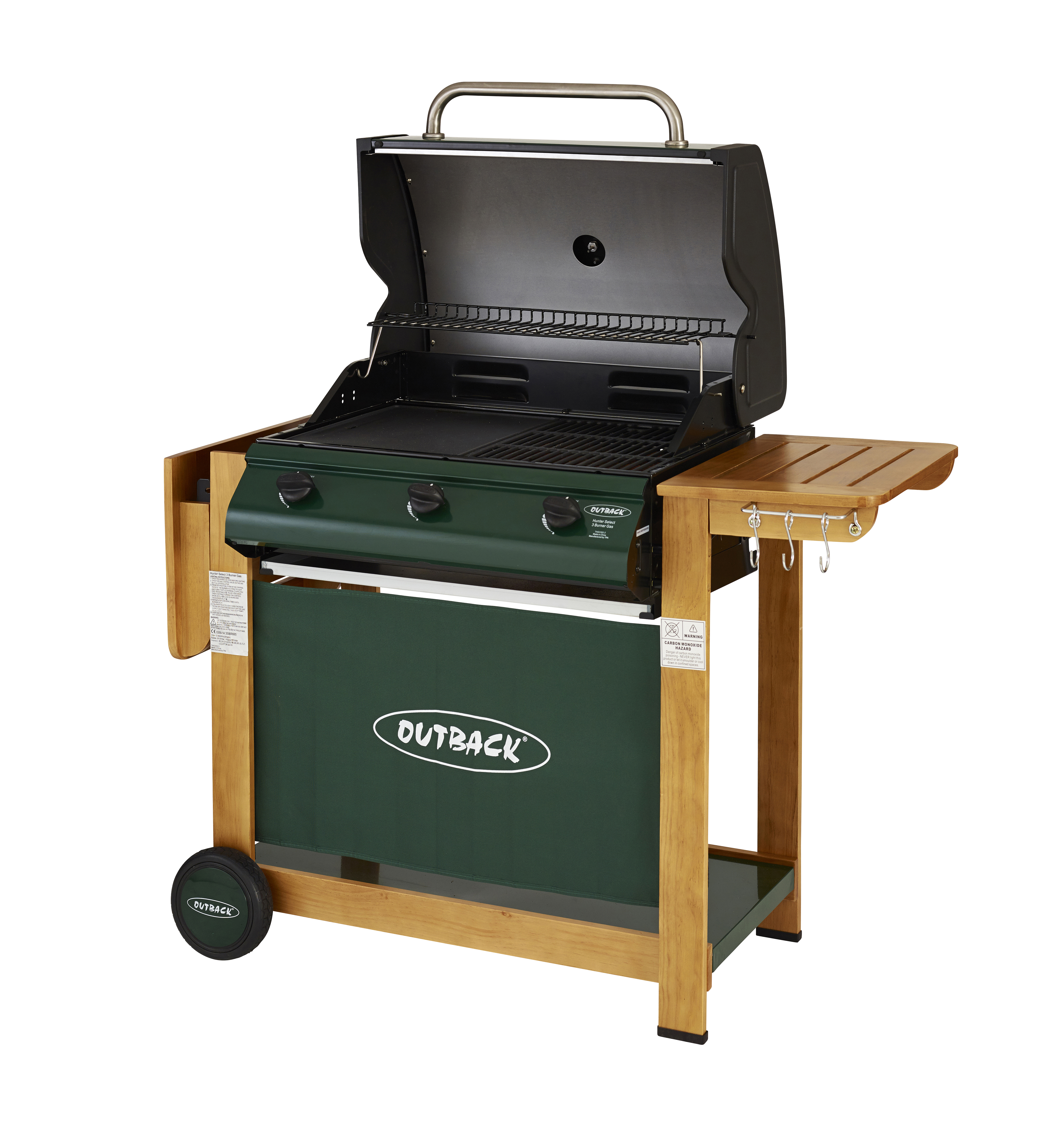 Outback Hunter 3 Burner Hooded Gas Barbecue