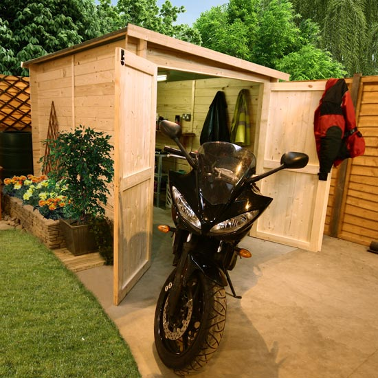 Billyoh 28mm premium motorbike store bike storage for Motorcycle storage shed