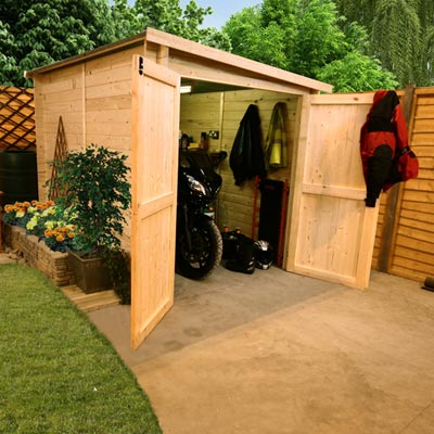 Edim bicycle storage shed uk for Motorcycle shed