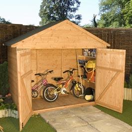 7 x 3 Extra Wide Bike Shed TandG