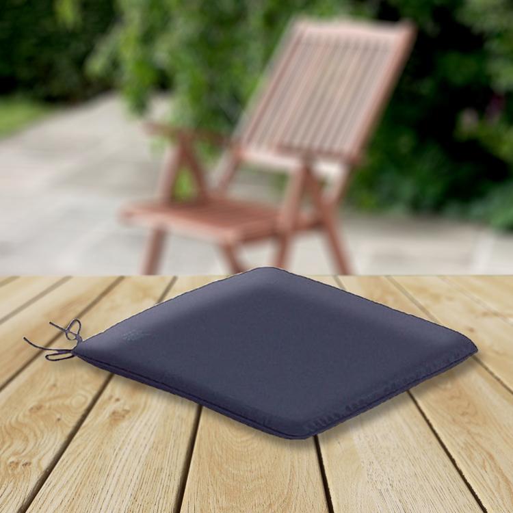 CC Garden Seat Cushions Garden Seat Pad Navy Blue