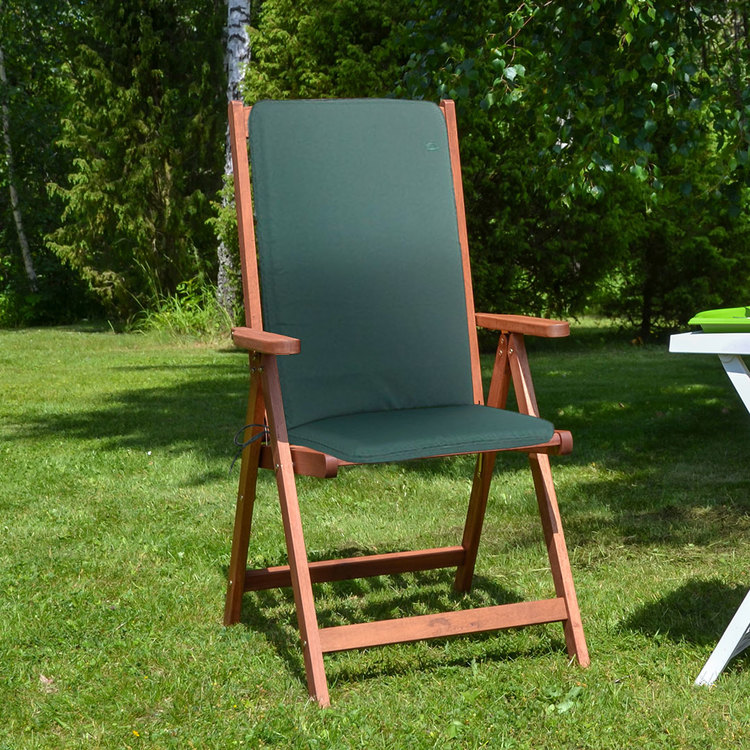 CC Garden Furniture Cushions Seat Pad Back Green