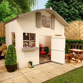 Mad Dash Dutch Barn Two Storey Wooden Playhouse Including Floor