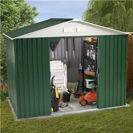 BillyOh Ballington Refurbished 8' x 6' Metal Shed Including Assembly *Only 1 left in stock*