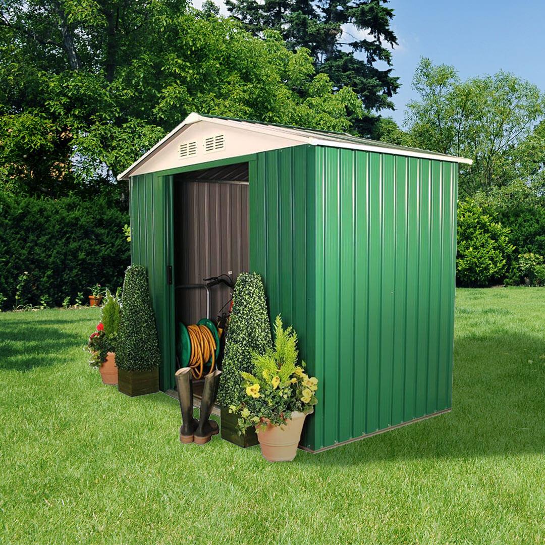 Metal sheds for sale buy garden buildings direct uk for Used metal garden sheds for sale