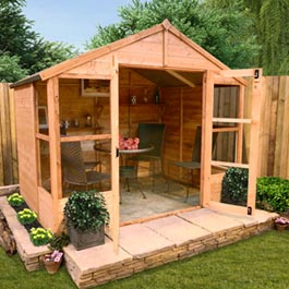 BillyOh 4000L Tete a Tete Tongue and Groove Summer house - 8'x10'