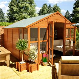 BillyOh 4000XL Tete a Tete Tongue and Groove Summerhouse - 10'x10'