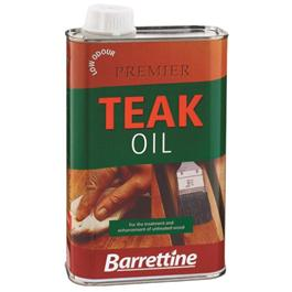 Barrettine Premier Low Odour Teak Oil for Garden Furniture - 3 Litre