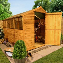 BillyOh 20 Rustic Economy Overlap Apex Shed - B Grade